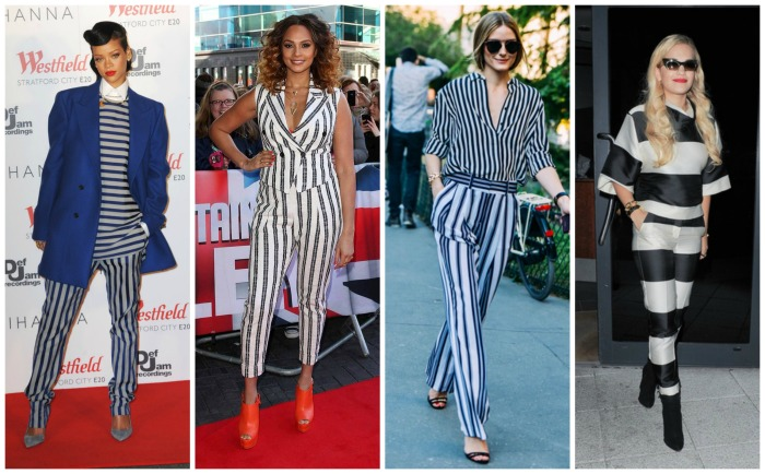 Rihanna, Alesha Dixon, Olivia Palermo and Rita Ora in Stripes on Stripes