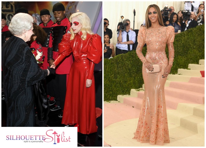 Victorian Style Latex Dress Lady Gaga Vs. Beyonce