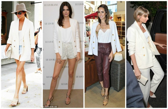 White Blazer Chrissy Teigen, Kendall Jenner, Louise Rose, Taylor Swift