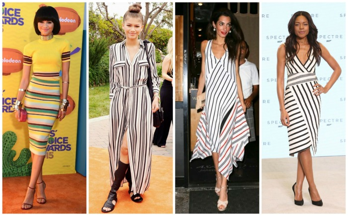 Zendaya, Amal Clooney, Naomi Harris in Dressy stripes
